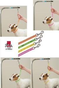 DOG PRINT PAW BONE HEART GROOMER LOOP Restraint Noose for PET Grooming Table Arm