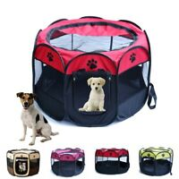 Pet Dog Puppy Cat Tent House Play Exercise Fence Folding Travel Hair Drying Cage