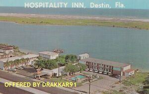 Hospitality Inn DESTIN FL, Miracle Strip Parkway, Wholesome, 1960s Era Postcard