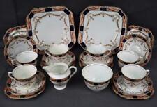 22 Piece~Vintage Teaset for 6~Colclough~English China~Gold Cobalt Blue c1939