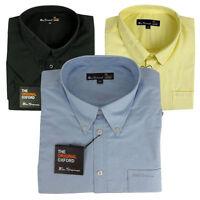 New Mens Ben Sherman Oxford Eton Classic Short Sleeve Smart Shirt King Big Sizes