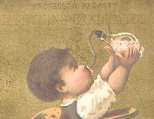 BROOKLYN, NY TRADE CARD, PARRET & CO LIGHTING ERADICATOR, & OLD BABY BOTTLE  K13
