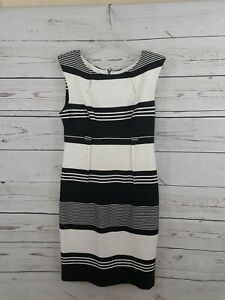 Shelby and Palmer - Black/White/Gray Stripped dress size 8 Free Shipping