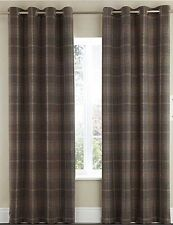 Eyelet Top Checked Modern Curtains