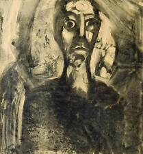 """Josef Fink 1941-1999 Graz/monotypie """"Petrus après le refus de"""" 1964 Passion"""