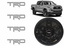 (4) Cement Gray TRD Vinyl Decals For TRD SEMA Wheel Center Caps New Free Ship