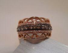 Levian - 14K Rose Gold - 1 C.T.W -  Chocolate & White Diamonds - Wide - Band