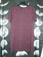 New Look Dark Burgundy Red Leopard/Cheetah Print Dress 16 Goth Rock  Alternative
