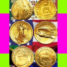 !SUMMER SPECIAL! x9 GOLD COINS: Maximilian Saint Gaudens & Krugerrand (MINI)