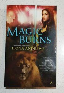 Magic Burns By Ilona Andrews Kate Daniels Series Book #2 Paperback Book