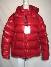 New Authentic Moncler 2018 Maya Lacquered Down Jacket Nwt Bright Red