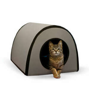 """K&H PET PRODUCTS 5122 Gray MOD THERMO-KITTY SHELTER GRAY 15"""" X 21.5"""" X 13"""""""