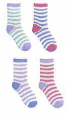 Ladies Soffici Caldi Comodi sera Letto Lounge Stripe Socks 4 Pack Size 4-7 Set 1