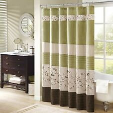 NEW Madison Park Serene Shower Curtain  Green  72x72 FREE SHIPPING