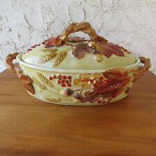 FITZ and FLOYD Classics Harvest Covered Vegetable Bowl Dish Thanksgiving Holiday