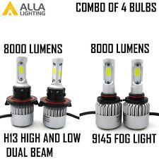 Combo H13(9008) 9145(9140) LED Headlight High Low Beam Bulb Fog Light Kit White