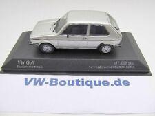 + VOLKSWAGEN VW Golf 1 von Minichamps in 1:43  *Silber *  NEU 400055101