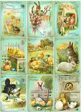 Easter Countryside  Selection Glossy Finish Card Making Toppers / Crafts