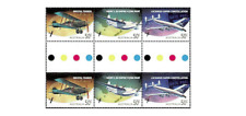 AUS0823PARAviation passenger planes and transport GUTTER PAIR MNH AUSTRALIA 2008