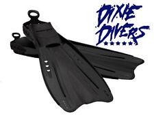 Ocean Pro Mako Black Fins Size SM Open Heel Snorkeling or Scuba Diving Fin
