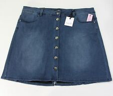 706d4428df654 Nanette Lepore Women s Plus Stretch Button Closure Denim Skirt Size 18W  Nippon