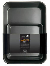 master class non-stickTwin Bakeware pack 39x28x7cm, 23x4cm sq