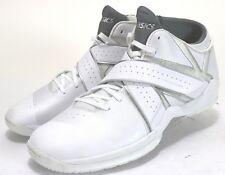 Asics NEW Naked EG02 $120 Mens High-Tops Basketball Shoes Size 14 Leather White