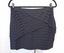 NWT New York & Company Black Tiered Mini Skirt Size 16 $69