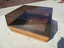 DUAL 1214 BASE PLINTH with WORKING COVER & HINGES  VERY GOOD UA