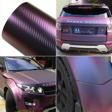 1.52mx15m Chameleon Carbon Fiber Vinyl Film Wrap Auto Car Sticker Body Films