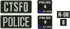 POLICE and CTSFO 3x8, 2x4, 2x2, and 4x4.5 embroidery patches hook