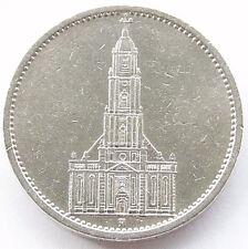 GERMAN Coin 5 MARK REICHSMARK 1934 A Potsdam Garrison CHURCH Silver 3RD Nazi WW2