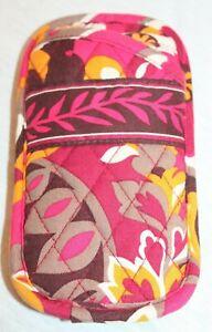 Vera Bradley Carnaby Double Eyeglass Case Soft Pink Purple Gold White Paisley