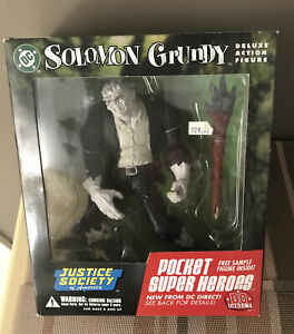 """DC Direct Justice Society of America SOLOMON GRUNDY 7""""  Action Figure  NIP NRFB"""