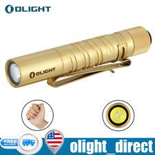 Olight i3T EOS Brass 180 Lumens EDC Flashlight Slim Tail Switch W/AAA battery US
