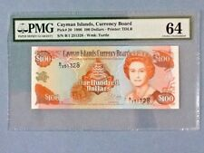 Cayman Islands 100 Dollars P-20 1996  PMG 64