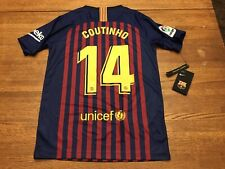 NWT's NIKE FC Barcelona COUTINHO 2018 Jersey Youth Large MSRP $100