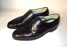 Vintage Florsheim Imperial Wingtips Black Leather-Comfortech-Size 12 D-EXCELLENT