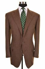 Ermenegildo Zegna Brown TWEED 100% CASHMERE Sport Coat Jacket Blazer EU54 - 44 R