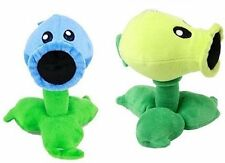 Plants vs Zombies Ice Snow Peashooter & Peashooter Plush Toy - New - FREE Ship!