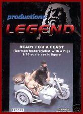 Legend Productions WWII German Motorcyclist W/ Pig 1/35 Model Kit