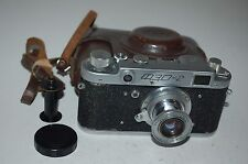 Fed-2 Type B2 Vintage 1956 Soviet Rangefinder Camera and Case. Serviced.165528.