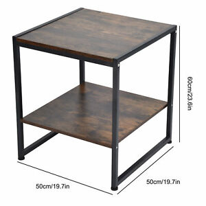 2 Layer Coffee Desk Tea Table Sofa Table For Home Department Living Room New