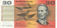 Australia 'Johnston - Fraser' OCRB Paper $20 (1985), Uncirculated
