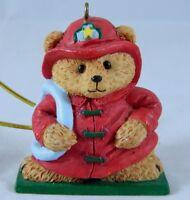 Fireman Teddy Bear Christmas Ornament Firefighter Decoration Fire Hose
