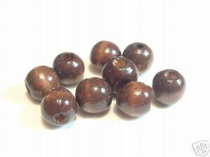 15 pcs Chinese Wooden Beads: BNW124 Chocolate Round
