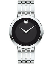 Movado Esperanza 0607057 Black/Silver Stainless Steel Analog Quartz Men's Watch