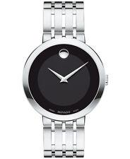 Movado Esperanza 0607057 Black/Silver Stainless Steel Analog Quartz Men's Watch