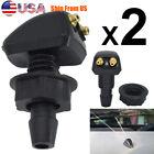 2x Universal Car Windshield Wiper Nozzle Sprayer Washer Spray Nozzle Sprinkler photo