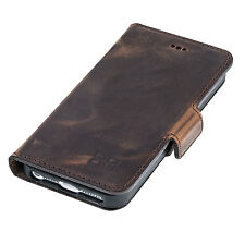 iPhone SE 5 5S Leather Phone Case Cover - Bouletta Wallet Case N Antic Brown